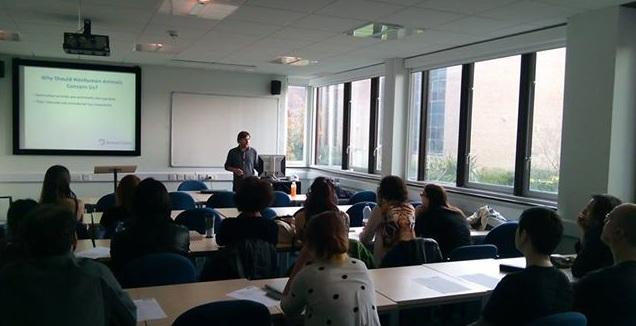 Animal Ethics talk at the University of Reading.