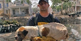 Dog rescue after hurricane, PBS Nature